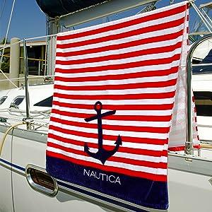 Nautica, towel, lifestyle, boat