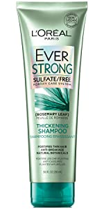 Ever, strong hair, sulfate free, shampoo, loreal