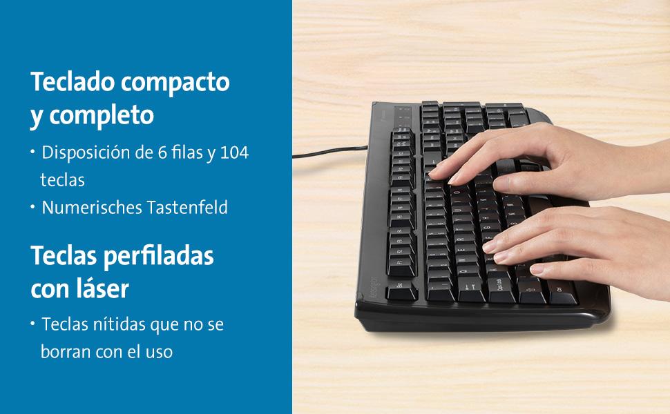 Kensington Teclado Lavable Pro Fit USB ES: Kensington: Amazon ...