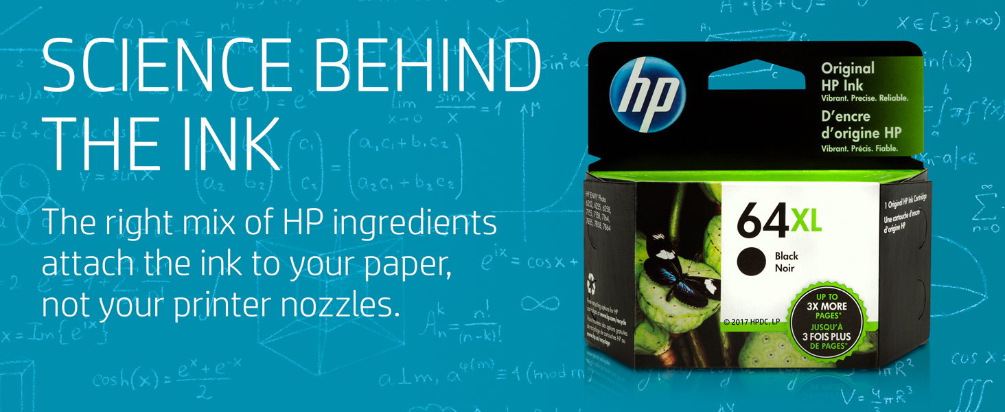 clean ink, not clogged ink, pigments,  paper, nozzles, printhead results, HP ingredients, HP quality