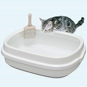 広々サイズのネコ砂用トイレ
