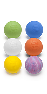 Champion Sports Lacrosse Balls: NCAA, NFHS amd SEI Certified - Assorted, 6 Pack