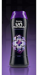 downy unstopables scent boosting beads, lush scent, floral, washing machine, washer, clothing