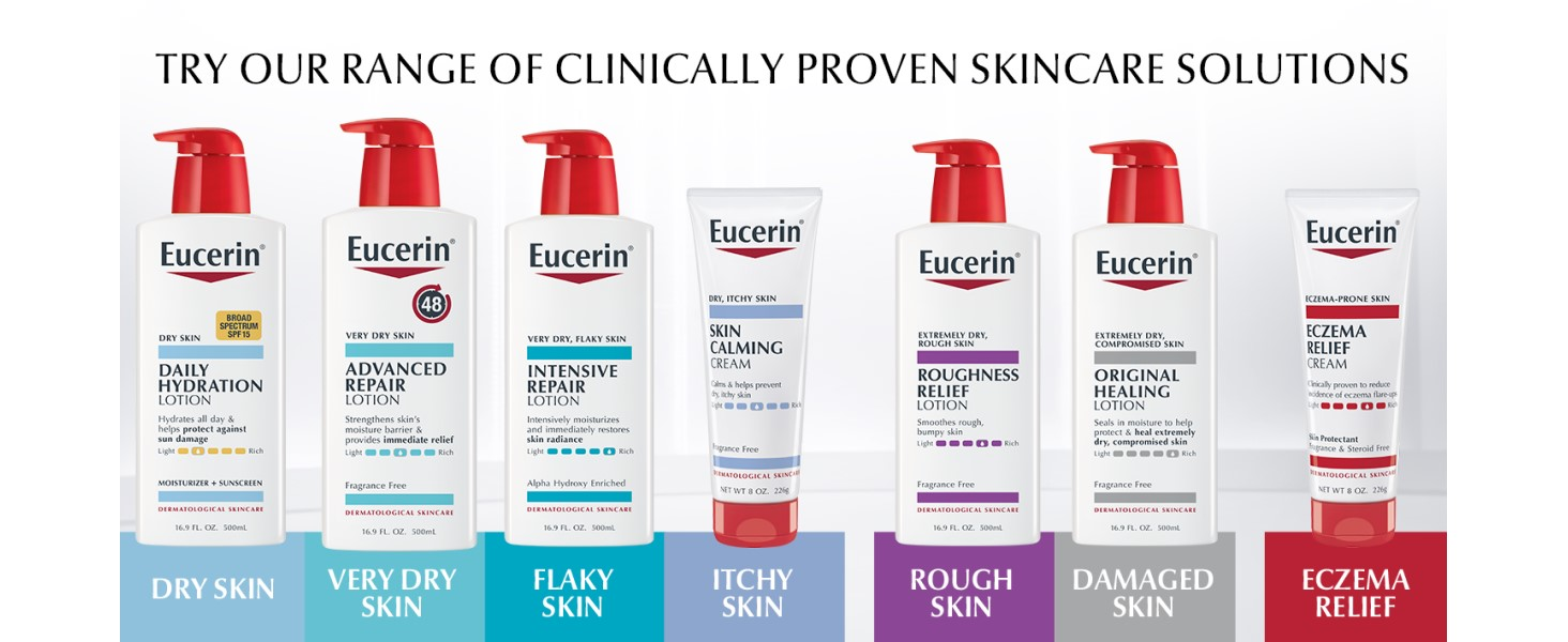 eucerin, clinically proven skin care solutions