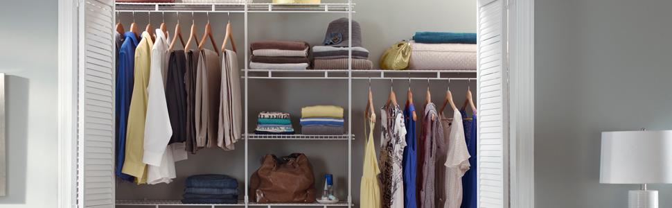 Fixed Mount Closet Organizer Kits
