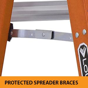 protected spreader brace