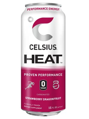 Amazon Com Celsius Heat Orangesicle Performance Energy Drink Zero Sugar 16oz Can Pack Of 12 Grocery Gourmet Food