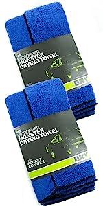 10Pcs Green Micro Fiber Auto Car Detailing Clean Soft Cloth Wa Towel K0Z7 D Q9C1