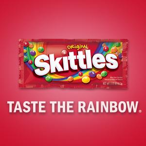 SKITTLES Candy: Taste the Rainbow.