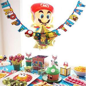 Amazon.com: Super Mario Bros Jumbo Carta Banner – Kit ...