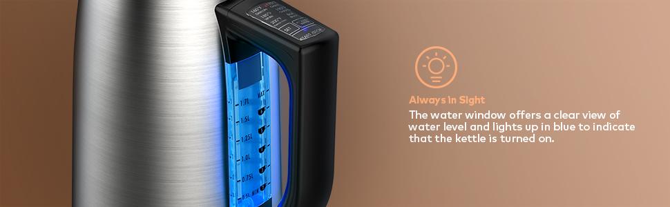 WATER WINDOW ELECTRIC KETTLE