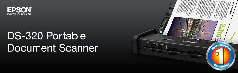 Epson DS-320 Mobile Scanner ADF: 25ppm, Twain & ISIS ...