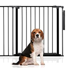 113.8cm - 121.4cm, White Bettacare Child and Pet Gate Pressure Fit Stair and Pet Gate 75cm 147.5cm