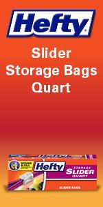 Hefty Slider Storage Bags Quart