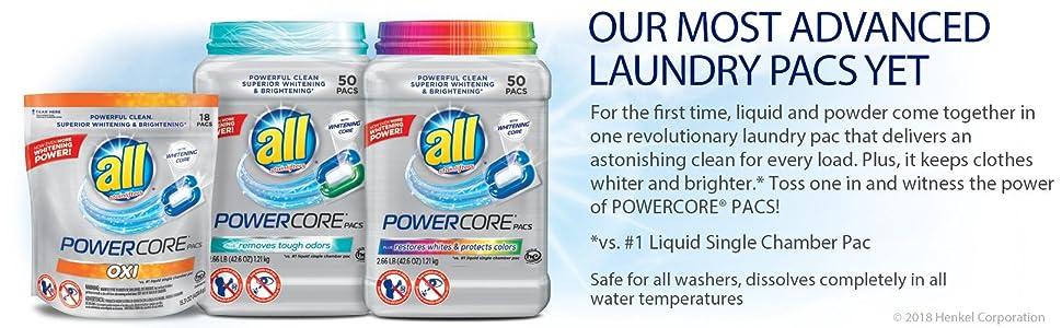 Amazon All Powercore Pacs Laundry Detergent Plus Restores