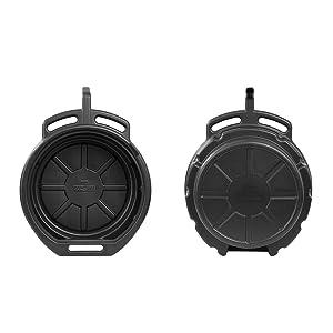 radiator drain pan; blitz oil drain pan; motorcycle oil change pan; change oil pan;