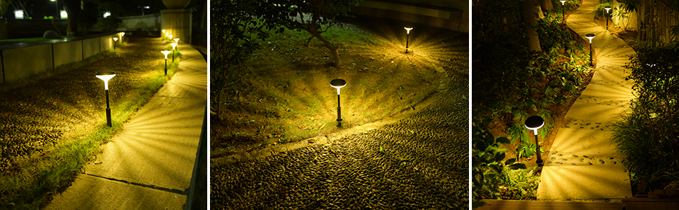 solar led landscaping path lights