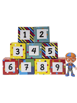 Amazon.com: Blippi Surprise Boxes, Learning Numbers: Toys ...