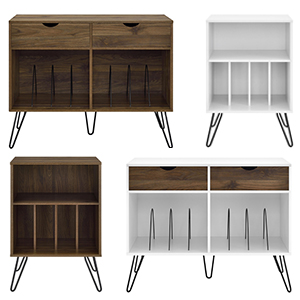 Details about Vinyl Record Player Storage Stand Rack LP Turntable Retro  Table Shelves Album