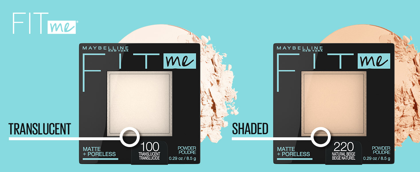 fit me pressed powder, translucent, shaded, powder, face