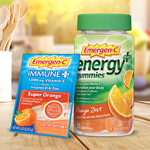 : Emergen-C, EmergenC, Natural Caffeine, Energy Gummies, Vitamin C, Immune Support