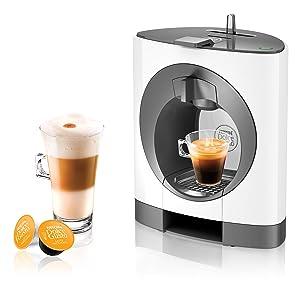 NESCAFE DOLCE GUSTO COFFEE, COFFEE MACHINE, CAPSULES, ESPRESSO, POD. OBLO WHITE
