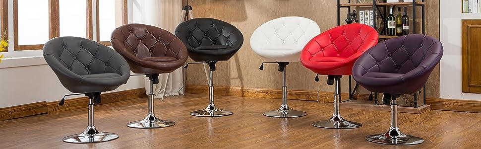 Amazon.com: Roundhill Furniture Noas Contemporary Round ...