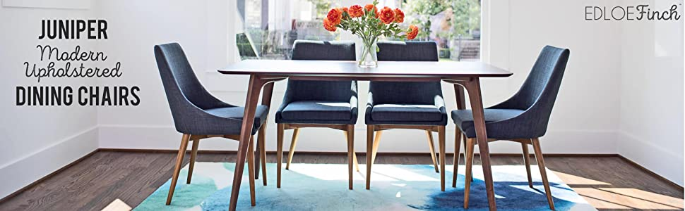 Amazon.com - Upholstered Modern Dining Room Chairs - Mid Century ...