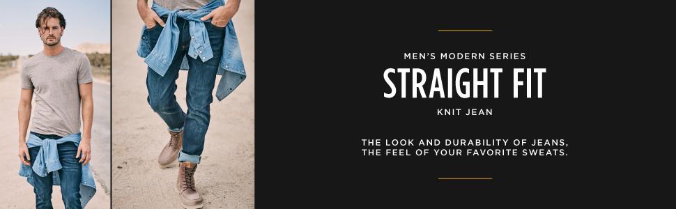 Lee Mens Big-Tall Modern Series Straight-Fit Knit Jean