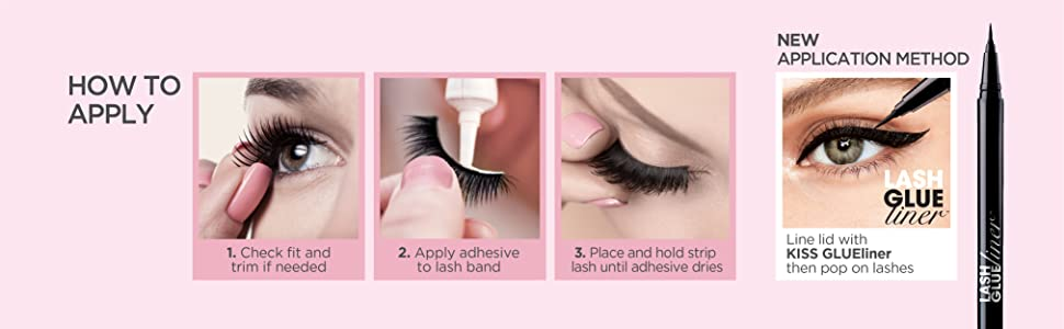 KISS Ever EZ Lashes Fake Lashes How to Apply