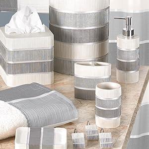 Modern line collection bathroom accessories grey