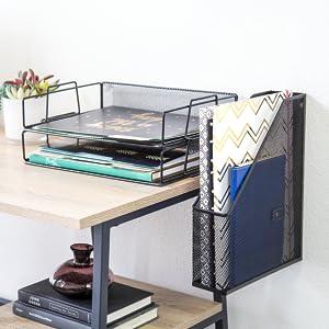 Amazon Com U Brands Hanging File Desk Organizer Wire