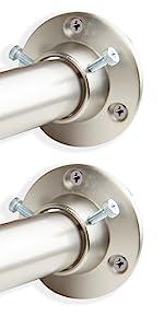 "1"" Rod with Wall Socket - Satin Nickel"