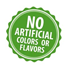 no artificial colors or flavors