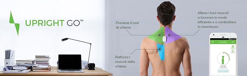 Allenatore posturale indossabile intelligente UPRIGHT GO con app iOS e Android gratuite