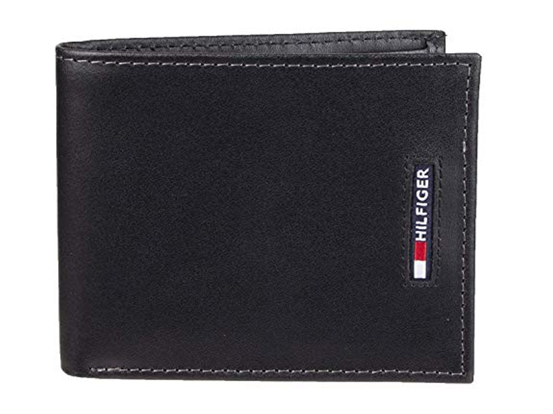 Tommy Hilfiger Mens Leather Black Wallet
