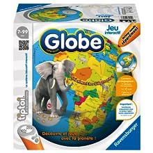 Ravensburger, globe, tiptoi, jeu interactif, jeux, livre, éducatif, histoire, chanson