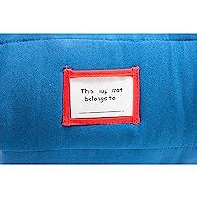 Personalized nap mat