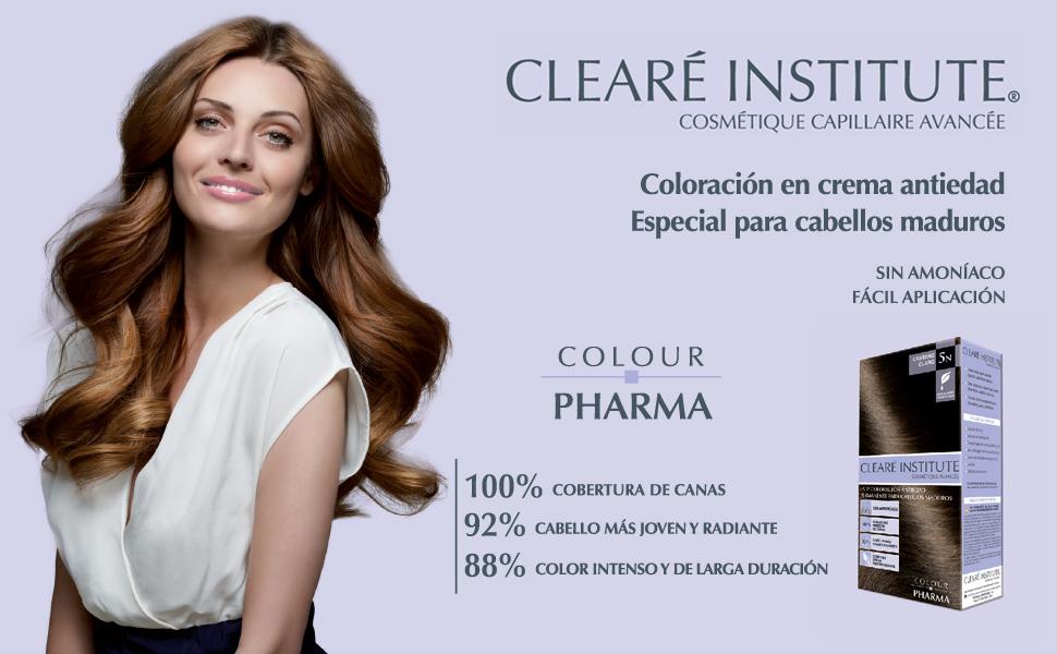 Colour Pharma| Tinte Sin PPD ni Amonicaco | Coloración Antiedad | 100% Cobertura de Canas Rebeldes, Con Serum Redensificante | 5CH. Chocolate Intenso ...