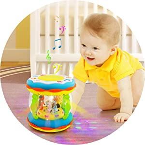 Amazon Com Toddler And Baby Musical Activity Drum Toys For 6 Months