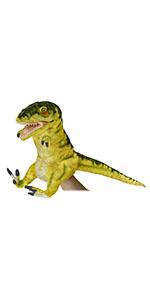 7766 ハンドパペット ティラノサウルス(開口) イエロー 50