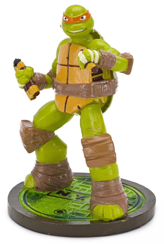 Penn Plax Teenage Mutant Ninja Turtles Leonardo Aquarium Ornament, Mini