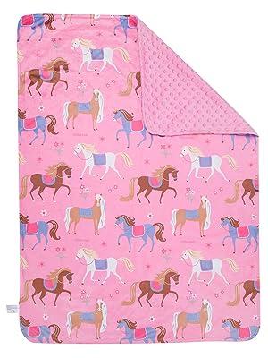 wildkin horses plush blanket