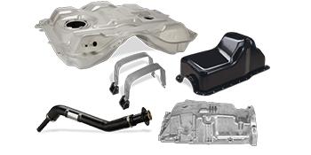 undercar, fuel tank, fuel filler neck, oil pan, fuel tank straps