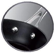 Riveted Stainless Steel Handle, Tefal Gourmet Anodised Frypan 26cm