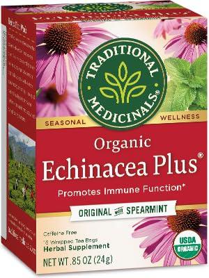 Amazon Com Traditional Medicinals Organic Echinacea Plus
