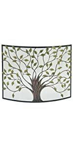 Deco 79 44543 Nature-Inspired Colored Iron Fire Screen