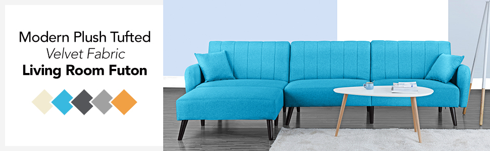 Brilliant Futon Sleeper Sofa Bed Couch Convertible Futon Sofa Sectional With Chaise Sofa To Bed Feature Modern L Shaped Lounger Sectional Sofa Fully Short Links Chair Design For Home Short Linksinfo