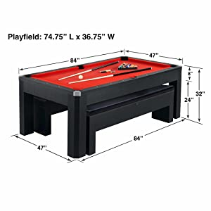 Amazoncom Hathaway Park Avenue Pool Table Tennis Combination - Combination pool and ping pong table