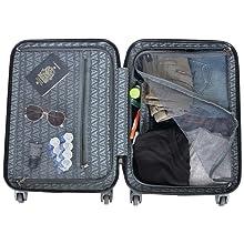 """Hardside, Suitcase, Lightweight, Luggage, Checked Suitcase, 28"""" Luggage,Travel, Reaction, Designer"""